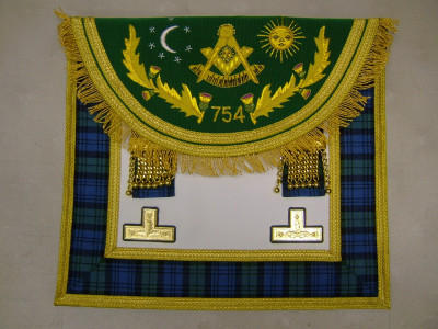 Right Worshipful Masters Dress Apron Style No.5 - SCOTTISH MASON