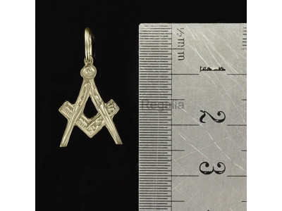 Freemasons Masonic Square And Compass Pendant or with G Hallmarked 9ct Gold