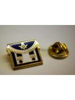 Masonic Freemasons Apron blue Lapel Pin