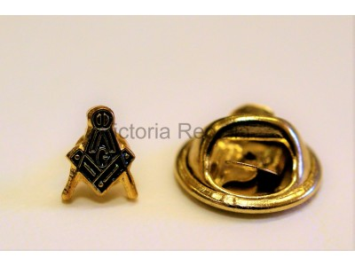Square, Compass & G Masonic Freemasons Lapel Pin Spec of Dust