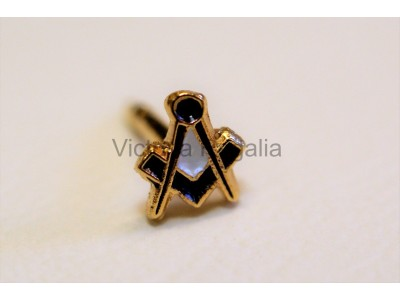 Square and Compass Med Lapel Pin