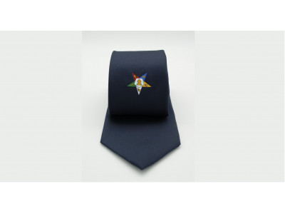 Order of Eastern Star Tie - Navy