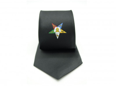 Order of Eastern Star Tie - Black