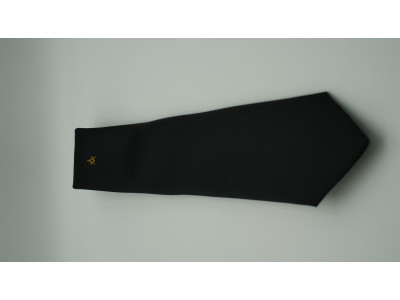 Black tie with Gold Square and Compass