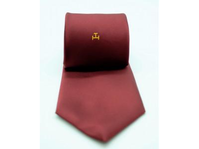 RAC Single Triple Tau  -  Crimson woven  Tie