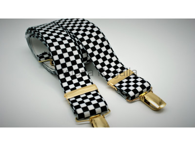 Freemasons Masonic Braces - Chequered