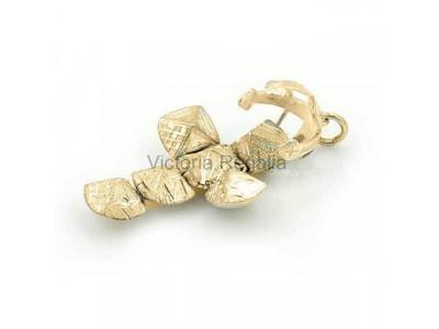 Handmade Masonic Orb Fob Ball Cross Pendant -  9ct Gold - Large Size