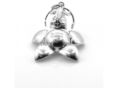 Handmade Masonic Order of the Eastern Star Orb Fob Ball -  Solid Silver