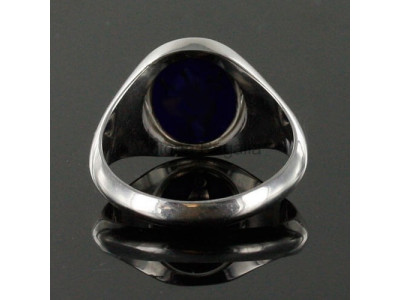 Masonic Silver Knights Templar Ring with Reversible Head