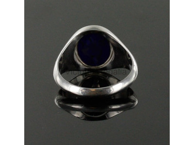 Masonic Silver Royal Arch Ring with Reversible Head (Black)