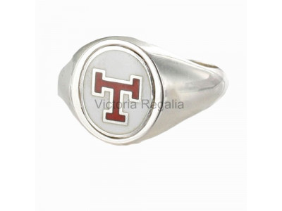 Masonic Solid Silver Triple Tau Ring with Reversible Head