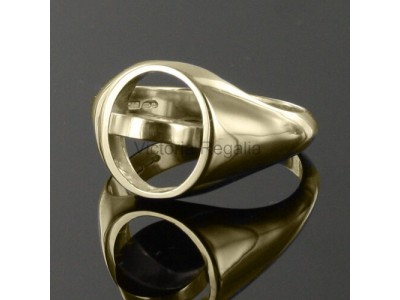 Masonic Gold Plated Solid Silver Royal Black Preceptory Ring with Reversible Head