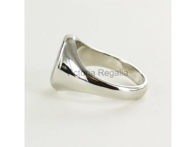 Masonic Silver Triple Tau Ring with Fixed Head
