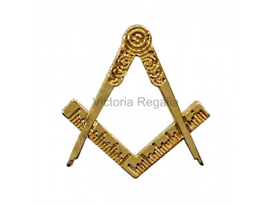 Freemasons Gold Coloured Square & Compass Masonic Lapel Pin