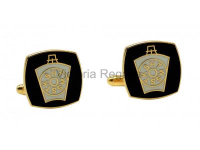Masonic  Mark Black and White Freemasons Cufflinks