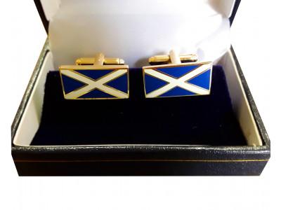 Masonic Saltire Scottish Flag Freemasons Cufflinks