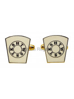 Masonic Mark Freemasons White Cufflinks