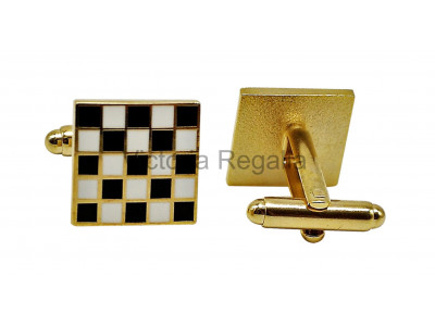 Masonic Chequered Carpet Freemasons Cufflinks