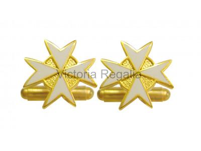 Masonic Knights of Malta Freemasons Cufflinks