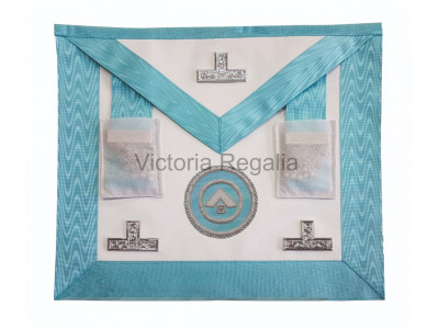 Worshipful Masters Apron - Lamb Skin  - Super with Badge - English Constitution