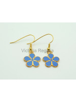 Masonic Forget-Me-Not Gold Coloured Drop Earrings