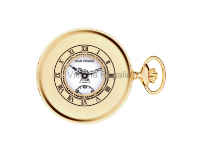 Free Masons Masonic Pocket watch - Masonic Gold Plated Quartz Half Hunter Pocket Watch