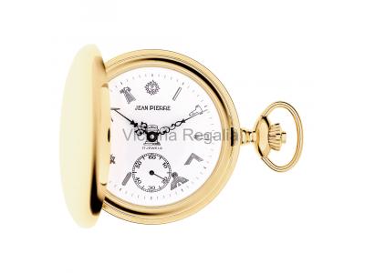 Free Masons Masonic Pocket watch with Masonic Symbols - Masonic Gold Plated Quartz Hunter Pocket Watch