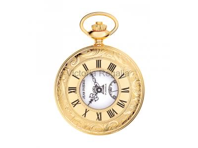 Free Masons Masonic Pocket watch - Masonic Gold Plated Quartz Half Hunter Pocket Watch