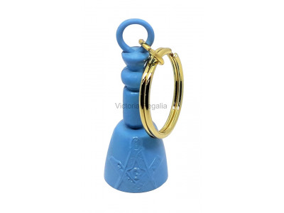 Masonic Maul Keyring Light Blue
