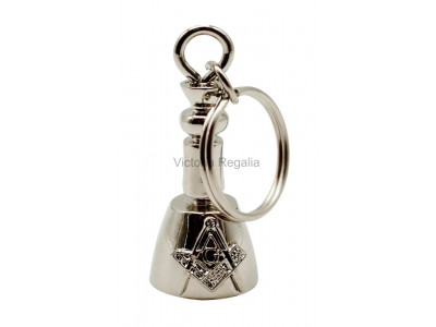 Masonic Maul Keyring Silver