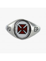 Masonic Solid Silver Knights Templar Ring with Reversible Head, and PD EP engraving