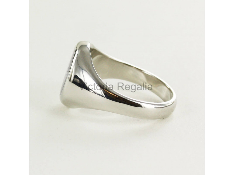 Masonic Solid Silver Knights Templar Ring with Fixed Head
