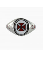Masonic Solid Silver Knights Templar Ring with Reversible Head, and VD SA engraving