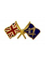 Union Jack Crossed flags Masonic Freemasons Lapel Pin