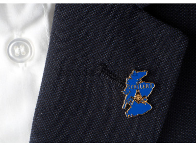 Map of Scotland Masonic Freemasons Lapel Pin