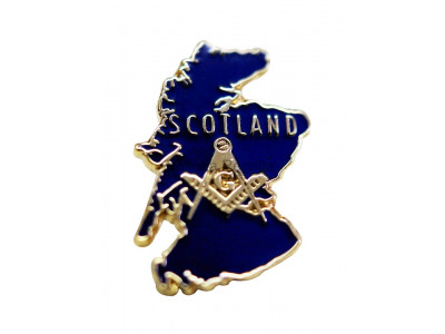 Map of Scotland Masonic Freemasons Lapel Pin