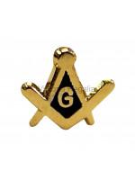 Square and Compass & G small Masonic Freemasons Lapel Pin
