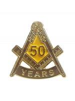 Freemasons Masonic 50 YEAR Lapel Pin