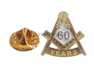 Freemasons Masonic 60 YEAR Lapel Pin