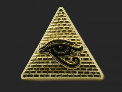 Masonic Eye of Horus on Pyramid Freemasons Lapel Pin