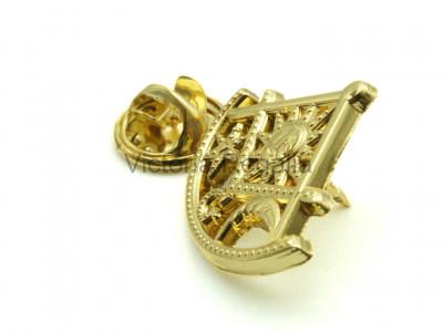 Robert Burns Masonic Freemasons Gold Lapel Pin (depute)