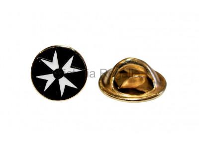Round Knights of Malta Masonic Freemasons Lapel Pin