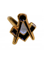 Square and Compass Masonic Freemasons Spec of Dust Lapel Pin