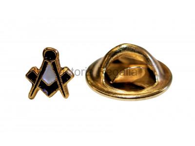 Square and Compass Masonic Freemasons Spec of Dust Lapel Pin