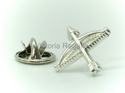 Masonic Bow and Arrow Silver Lapel Pin