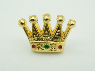 Masonic Royal Arch PZ Crown Freemasons Gold Lapel Pin