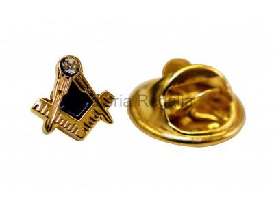 Square and Compass with Jewel Masonic Freemasons Lapel Pin - Small