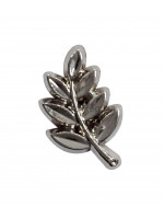 Masonic Acacia Leaf Freemasons Lapel Pin Silver