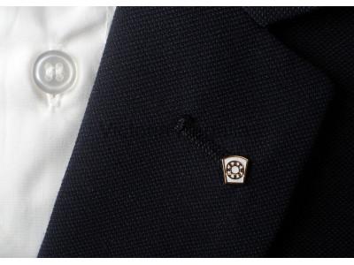 White Mark Masonic Freemasons Lapel Pin