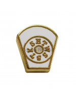White Mark Masonic Freemasons Lapel Pin